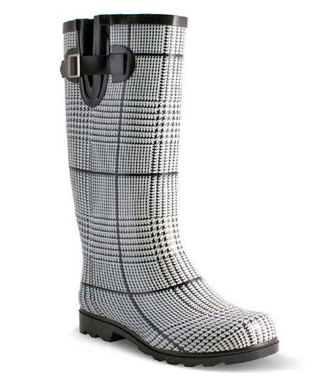 2d4f53d61d5 Nomad Footwear Black & White Plaid Drench Rain Boot - Women | zulily ...