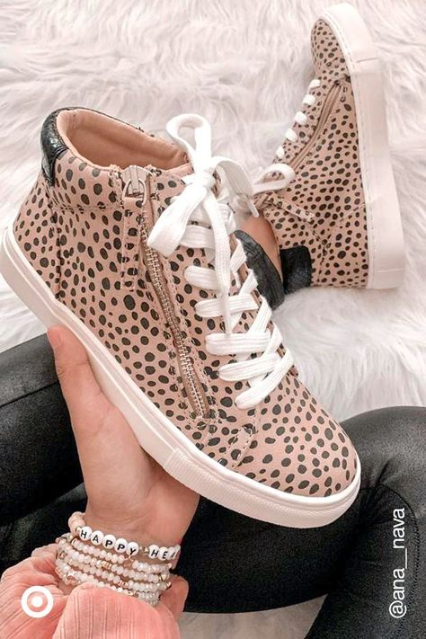 Leopard-print sneakers are back! Pair them with jeans, shorts or dresses to create cute leopard-print looks  casual outfits.