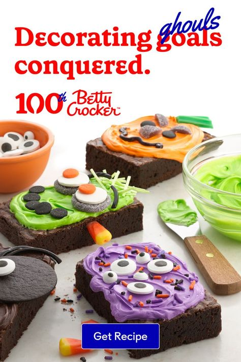 Monsters!? From your oven? Win the tastiest costume contest this year with tasty Halloween Brownies.