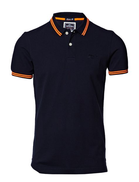 Neuf Lacoste Homme Contraste Col Pique Polo de Coupe Standard 2-Ply T-Shirt