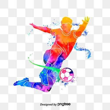 Silhouette Of Creative Football Players Football Multicolored Character Png Transparent Clipart Image And Psd File For Free Download Football Logo Cartoon Clip Art Football Players