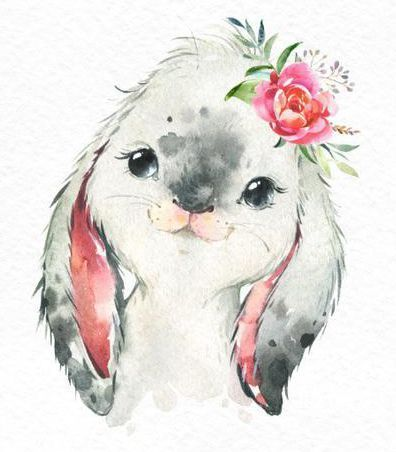 Farm Cow rabbit goat. Watercolor clipart small animals, calf, baby goat bunnies, country, flower children, daycare art, nature, baby shower, fun