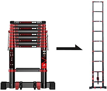 Ladders Ladder Telescopic Ladders Portable Safety Telescoping Ladders Ascent With Wheels Foldable Heavy In 2020 Telescopic Ladder Engineering Plastics Portable Ladder