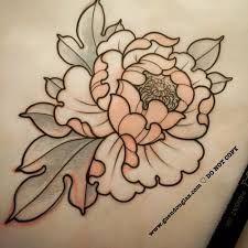 Image Result For Brown Outline Tattoos Peonias Tattoo Alfabeto