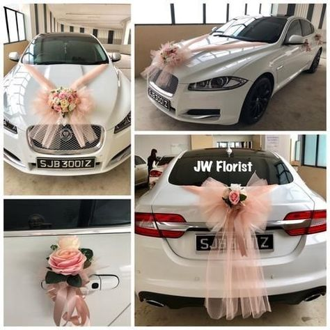 JW Florist, Singapore's reputed flowers provider online shop that provides the perfect bridal car decor flower packages at the affordable prices. Adorn your bridal car with these beautiful flowers! Table Decoration Wedding, Wedding Car Decorations, Garland Wedding, Church Decorations, Flowers Singapore, Bridal Car, Car Wedding, Bridal Flowers, Traditional Wedding