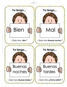 Saludos Y Despedidas Juego Yo Tengo Quién Tiene En Español Spanish Teacherspayteachers Education