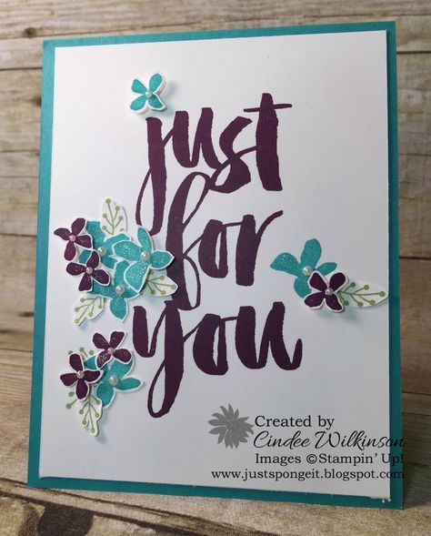 by Cindee: Botanicals For You set (SAB) with Clear Wink of Stella - all from Stampin' Up!