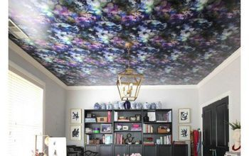 How To Hang Peel And Stick Wallpaper On A Ceiling Diy Wallpaper Ceiling Diy Ceiling Peel And Stick Wallpaper