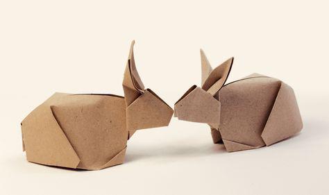 Origami Tiere basteln - 21 witzige Ideen mit Anleitungen