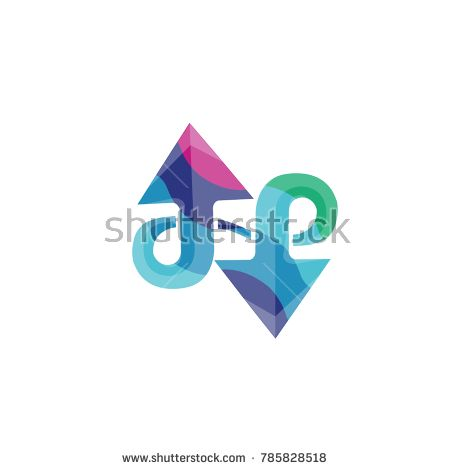 The Up And Down Arrows Logo Template Colorful Symbol Arrow Logo Logo Templates Symbols