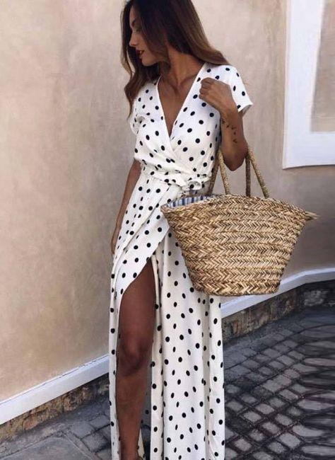 BOHO CASUAL SUMMER MAXI DRESS - White / XXXL