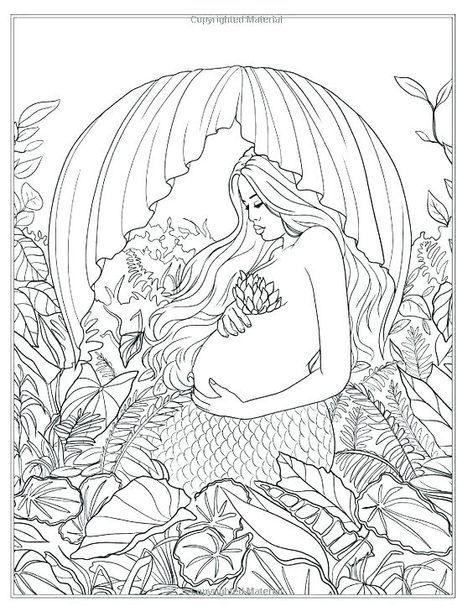 Mermaid Colouring Pages Pdf Colouring Mermaid