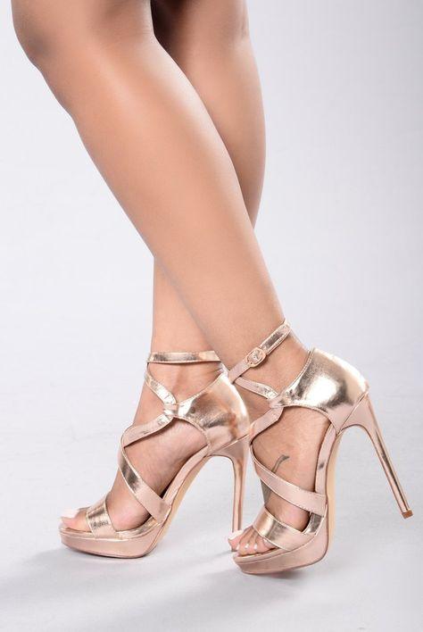 Theresa Heel Rose Gold | Heels, Rose gold heels, Fashion