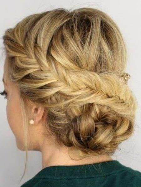 20 Unique Updos For Thin Hair Thin Hair Updo Fine Hair Updo Braided Crown Hairstyles