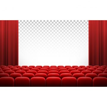 White Cinema Theatre Screen With Red Curtains And Chairs Cinema Screen Movie Png And Vector With Transparent Background For Free Download 赤いカーテン インテリア バナー 赤い部屋