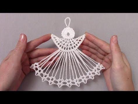 Новогодний ангел крючком/crochet angel - YouTube
