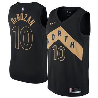 online store 388ba b58ee Nike DeMar DeRozan Toronto Raptors Jersey - City Edition ...