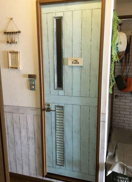 ドア 壁紙 Diy 壁紙 Diy ダイソー 壁紙 家 壁紙