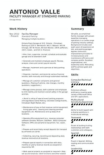 Facility Manager Resume template , Facility Manager Resume , Every