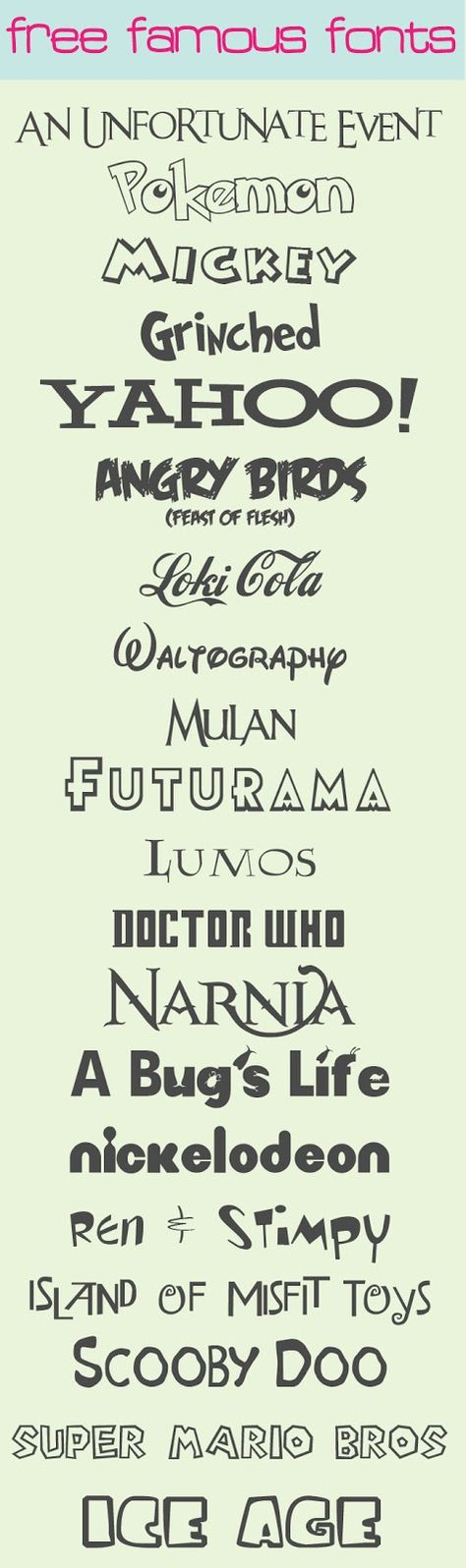 Love these free fonts