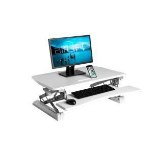 Airlift White 35 4 Height Adjustable Standing Desk Converter Workst Standing Desk Converter Adjustable Standing Desk Converter Adjustable Height Standing Desk