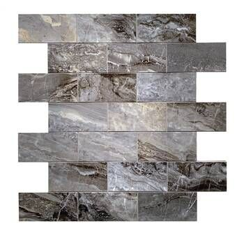 Design Is Personal 12 X 12 Pvc Peel Stick Mosaic Tile In Light Travertine Wayfair Mosaic Tiles Travertine Stick On Tiles