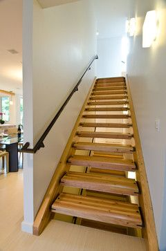 Queen Anne Residence Contemporary Staircase Seattle By Lee Edwards Residential Design Stairs Design Residential Design Timber Stair