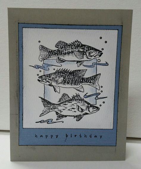 Fish Birthday Card Christmas Pinterest Cards