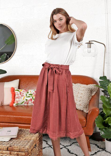 Gwen Tencel Skirt