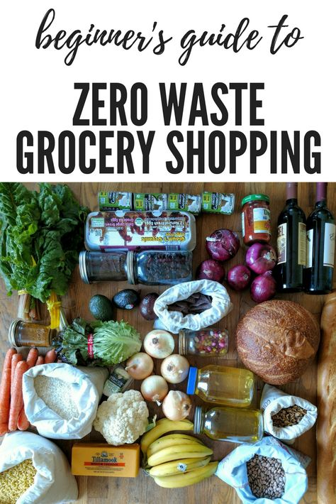 You guys - this is the BEST guide to how to get started with zero waste.  Great info for zero waste grocery shopping!!!