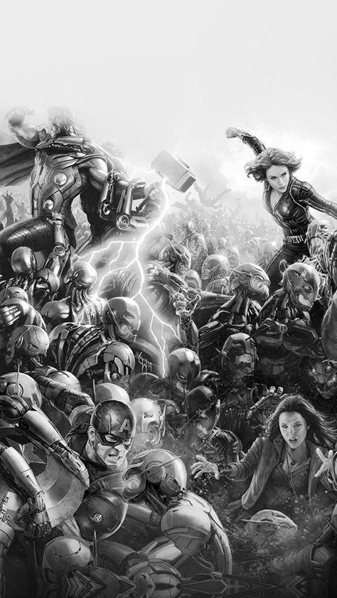Avengers Marvel Hero Ultron Flare Art Fight Dark iPhone Wallpapers