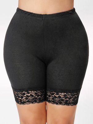 Ladies Women Elastic Safety Lace Soft Under Shorts Pants Underwear Shorts Plus
