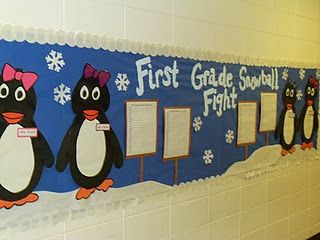 Snowball Fight...you get a snowball for the books you read and the graph keeps track of each classroom!  This is GREAT for the kiddos that are motivated by competition.