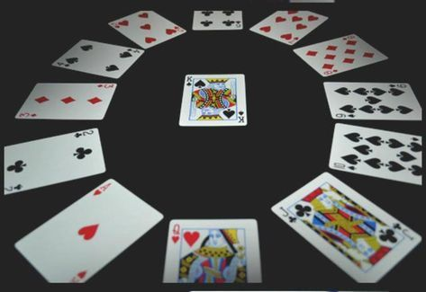 How To Play Clock Solitaire Solitaire Card Game Fun Card Games Playing Card Games