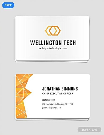 Free Professional Business Card Template Word Psd Apple Pages Google Docs Illustrator Publisher Business Card Template Word Free Business Card Templates Student Business Cards