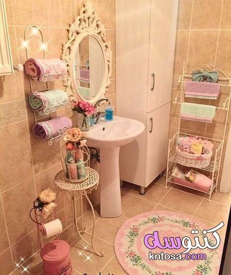 ديكور حمامات منازل ديكورات حمامات بسيطة ديكورات حمامات فخمه 2020 Kntosa Com 07 19 156 Small Bathroom Decor Pink Bathroom Decor Shabby Chic Bathroom