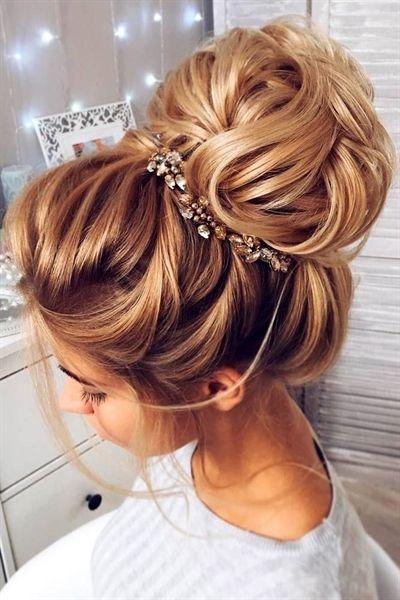 Elegant Wedding Hairstyles For Long Hair See More Weddinghairstyles Hair Styles High Bun Wedding Hairstyles Unique Wedding Hairstyles