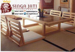 Meja Makan Lesehan Minimalis Ala Jepang Dari Kayu Jati Singa Jati Furniture Jepara Meja Makan Meja Makanan