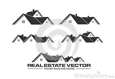 A Simple Roofing Vector Is Ready For Your Real Estate Logo Real Estate Logo Roofing Logo Roofing