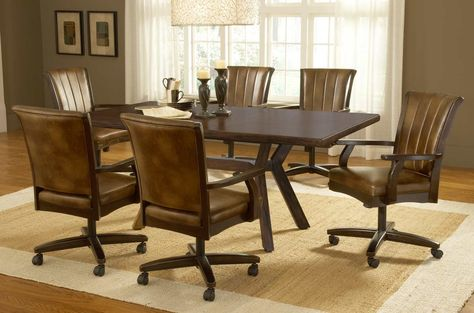 Dining Room Table With Roller Chairs Swivel Dining Chairs Dining Room Sets Dining Room Chairs