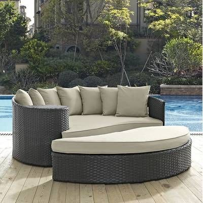 Patio Daybed, Burruss Patio Sectional With Cushions Canada