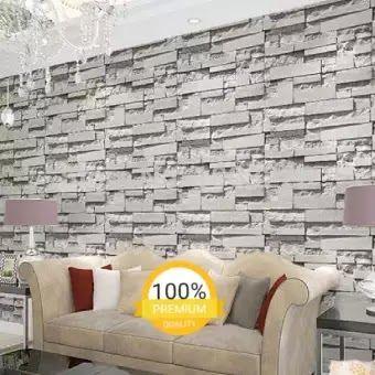 Wow 17 Lukisan Dinding Motif Batu Bata Wallpaper Sticker Dinding Batu Alam Grey Kecoklatan Elegan Bagus Sekali 10 Met Di 2020 Lukisan Dinding Gambar Hiasan Batu Bata