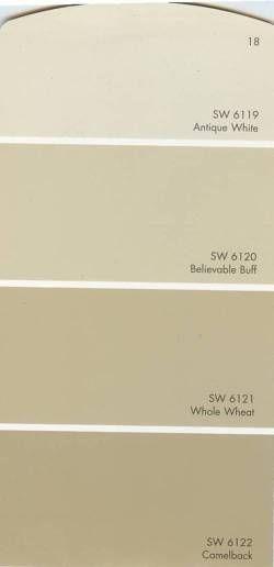 Sherwin Williams Antique White Ytical Gray Grab N Go Color Glidden