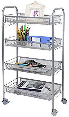 Amazon Com Lifewit Portable Slim Rolling Laundry Utility Cart