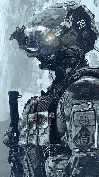 Sci Fi Soldier 4k Hd Mobile Smartphone And Pc Desktop Laptop Wallpaper 3840x2160 1920x1080 2160x3840 1080x1920 Res Sci Fi Robot Art Cyberpunk Character
