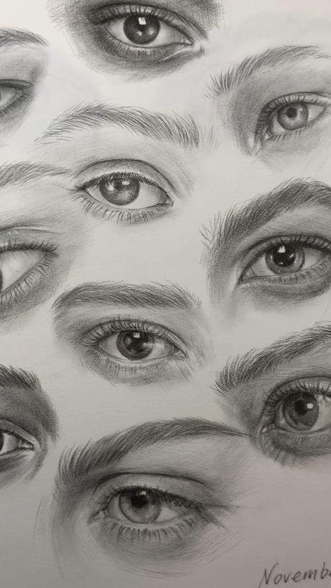 Sketching eyes by Nadia Coolrista