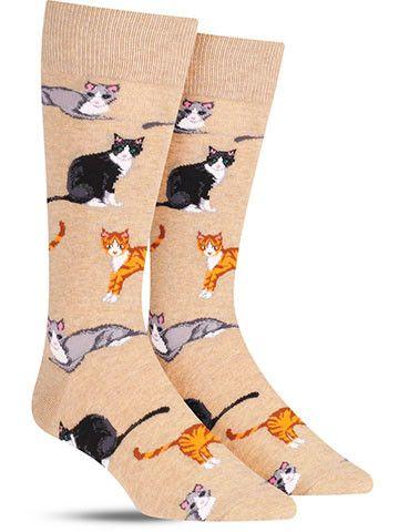 Multi Cat Socks | Mens
