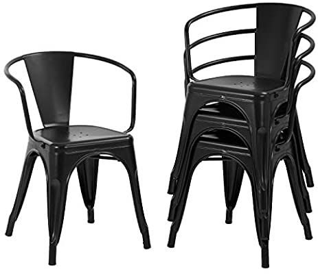 fdw dining chairs set of 4 metal chair