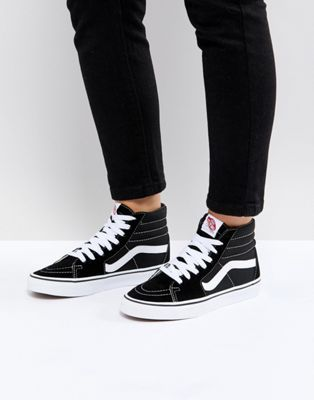 b84b68f92ab0 Vans Classic Sk8 Hi trainers in black and white in 2018