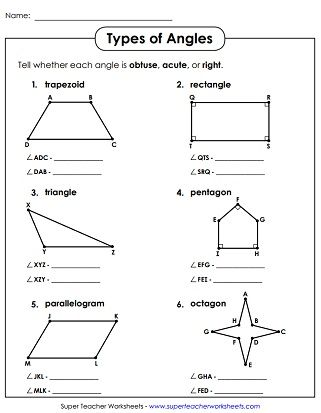 Acute Obtuse Right Angles Angles Worksheet Geometry Worksheets Measuring Angles Worksheet